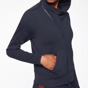 Athleta black Malabar hoodie zip-up